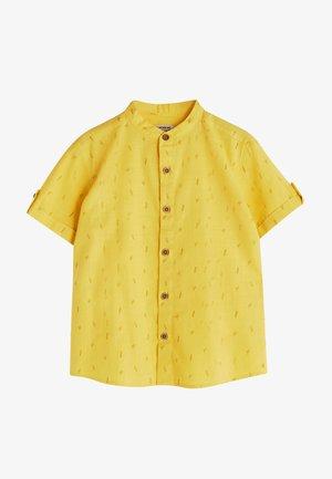JUDGE COLLAR PATTERNED SHORT SLEEVE POPLIN  - Overhemd - yellow