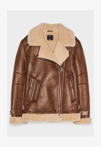 Bershka - Veste en similicuir - brown - 5
