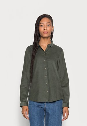 BLOUSE LONG SLEEVED STYLE - Button-down blouse - fresh moss