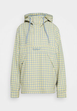 GINGHAM ANORAK - Windbreaker - yellow/blue