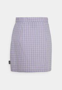 Kickers Classics - WRAP CHECKSKIRT - Mini skirt - purple - 1