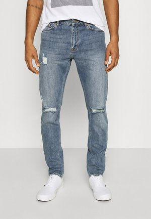 CLARK - Jeans Tapered Fit - creek mid blue ripped