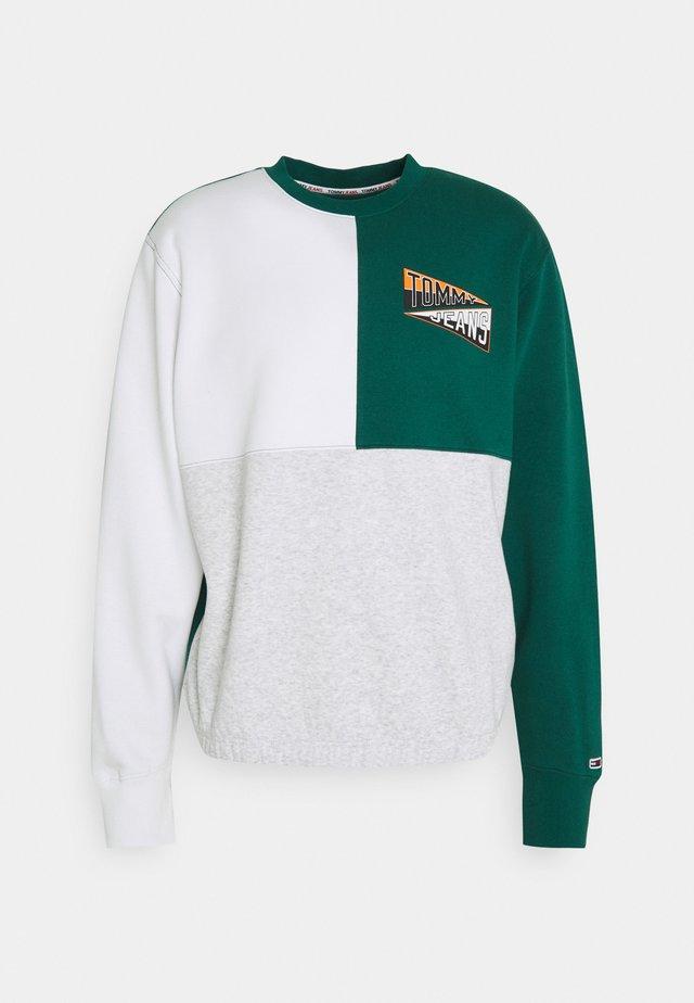 BACK GRAPHIC CREW - Sweatshirt - mottled grey