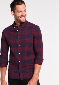 Pier One - Shirt - dark blue/bordeaux - 0