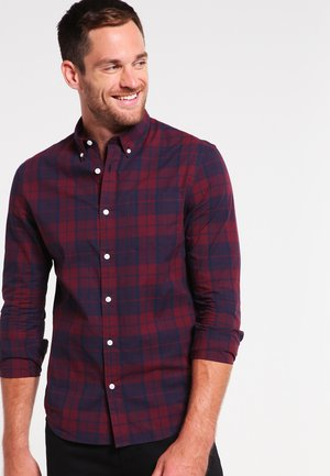 Shirt - dark blue/bordeaux