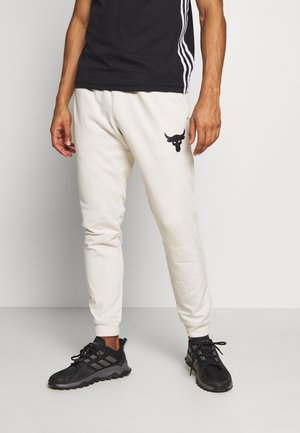 PROJECT ROCK - Tracksuit bottoms - summit white/black