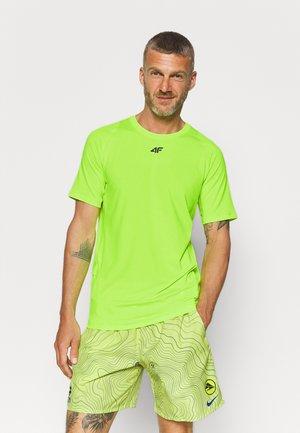 Men's training T-shirt - T-shirt z nadrukiem - neon yellow