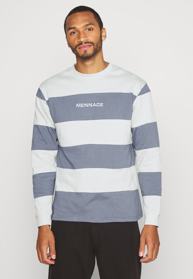 PANELLED STRIPE - T-shirt à manches longues - blue