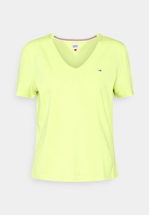 SLIM VNECK - Camiseta básica - faded lime