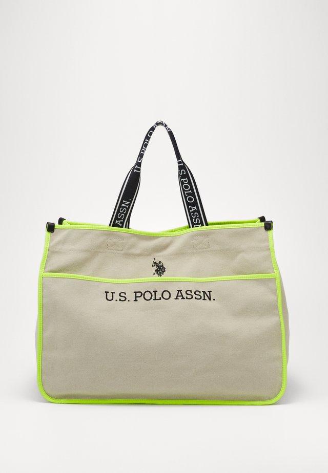 HALIFAX - Shopping bag - beige/ yellow