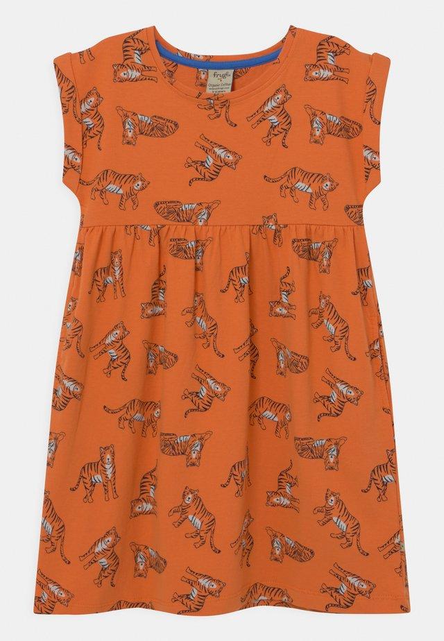 FRAN TIGERS - Vestito di maglina - marigold