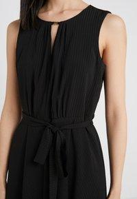 DKNY - KEYHOLE NECK MIDI WITH SELF BELT - Day dress - black - 6