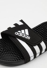 adidas Performance - ADISSAGE UNISEX - Pool slides - core black/footwear white - 5
