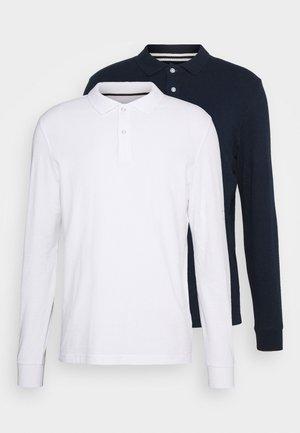 2 PACK - Polo - white/dark blue