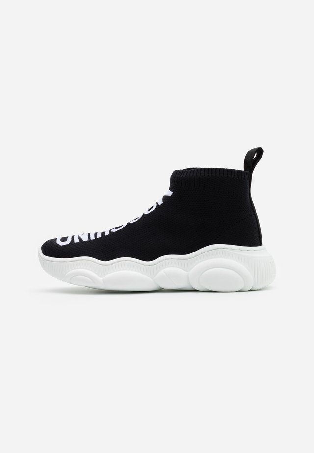 Sneakers high - black/white