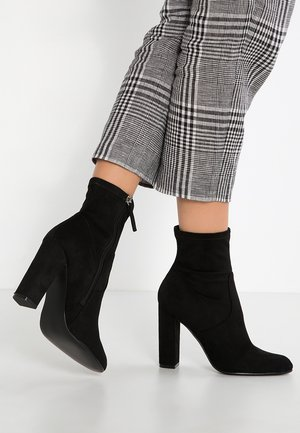 EDITT - High heeled ankle boots - black