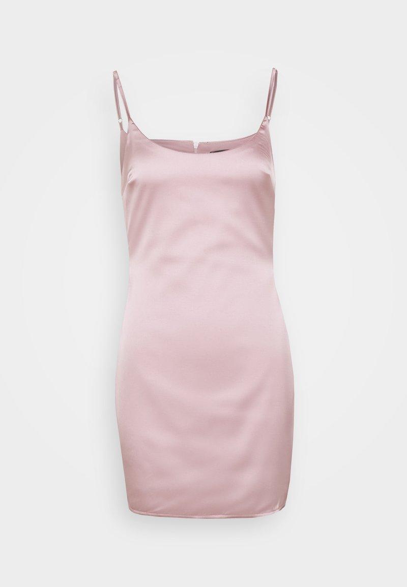 Missguided Petite - PETITE SLIP DRESS - Shift dress - mauve