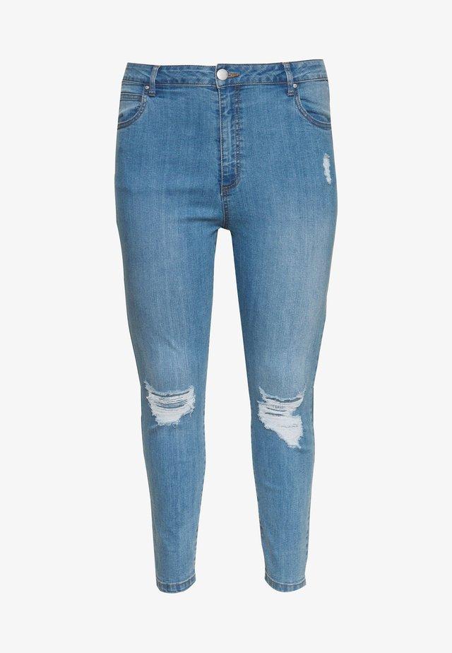 ADRIANA HIGH - Jeans Skinny Fit - bleach blue