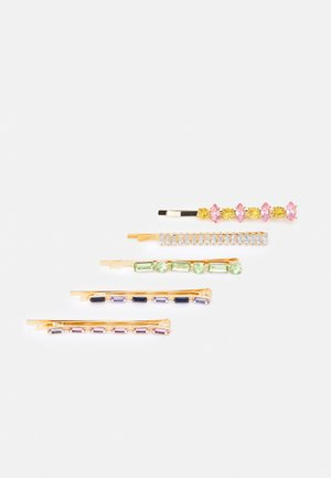 FGCRYSTAL HAIRPIN 5 PACK - Hårstyling-accessories - gold-coloured