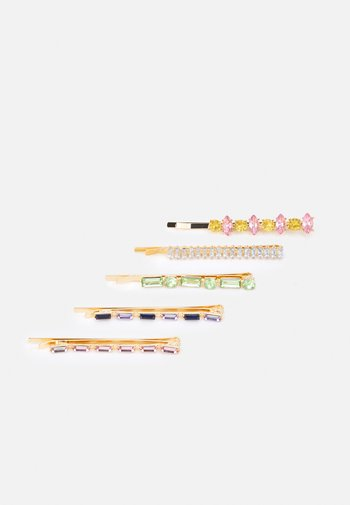 FGCRYSTAL HAIRPIN 5 PACK - Hair styling accessory - gold-coloured