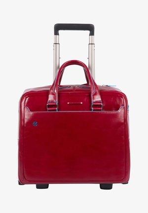 BLUE SQUARE 2-ROLLEN BUSINESSTROLLEY LEDER 36 CM LAPTOPFACH - Wheeled suitcase - red