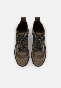 River Island - Platform ankle boots - khaki dark - 5