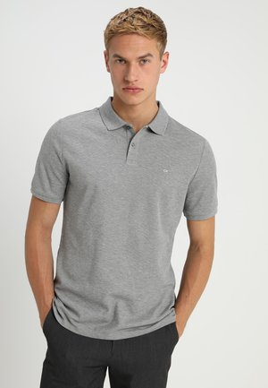 REFINED CHEST LOGO - Polo - mid grey heather