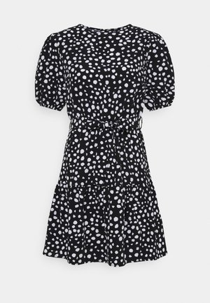 PUFF ALINE DRESS DALMATIAN - Day dress - black