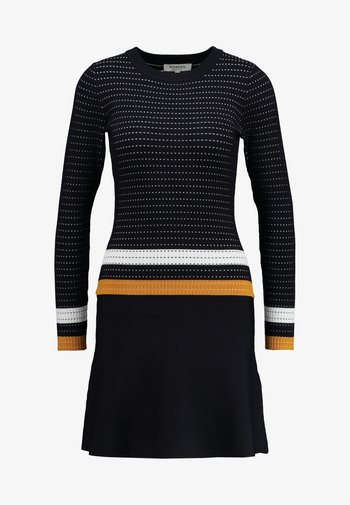 Jumper dress - marine/fauve