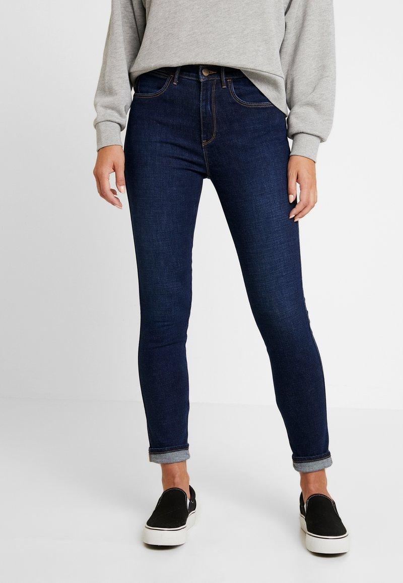 Wrangler - HIGH RISE - Jeans Skinny - night blue
