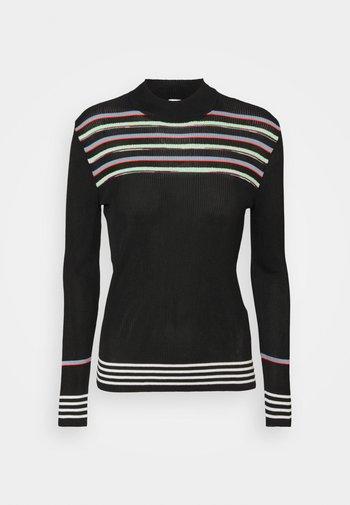 MOCK NECK - Long sleeved top - black/milk