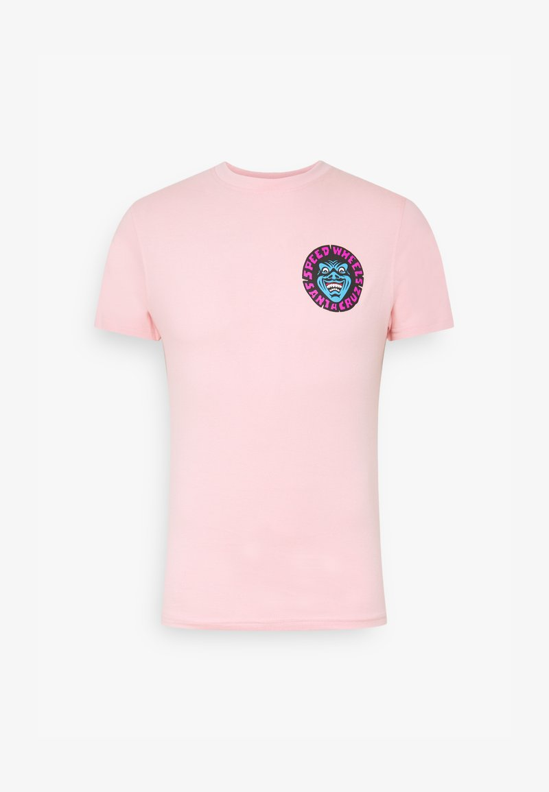 Santa Cruz - UNISEX SPEED WHEELS FACES  - Print T-shirt - pink