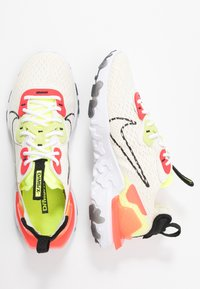 Nike Sportswear - REACT VISION - Zapatillas - pale ivory/black/volt/laser crimson - 3