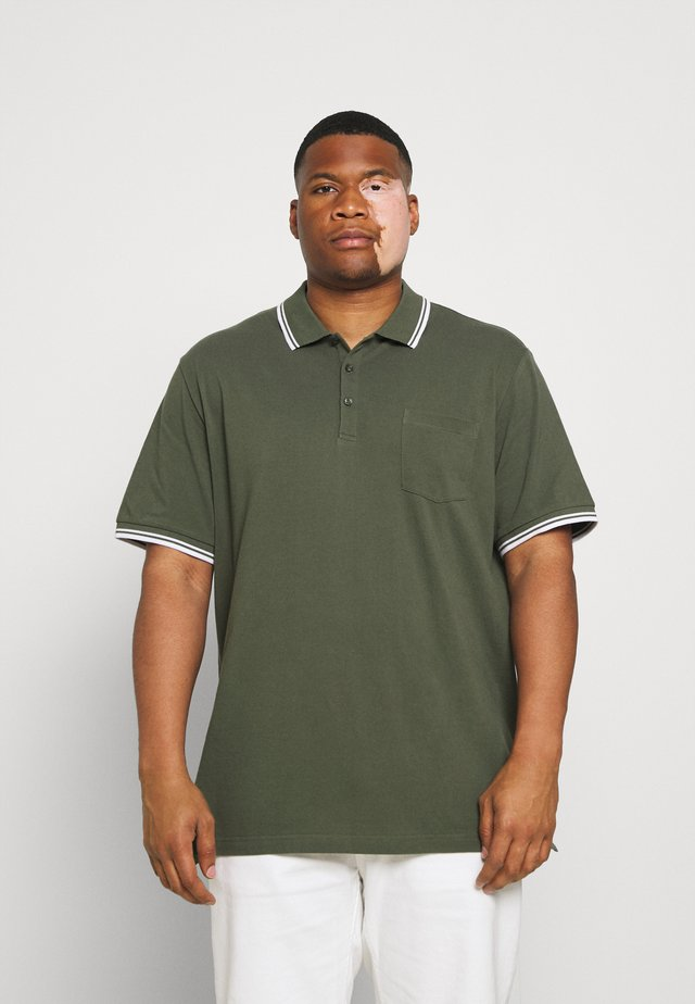 HARPER TIPPED - Polo shirt - khaki