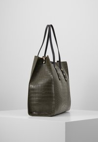TWINSET - CROCO UNLINED - Tote bag - military - 3