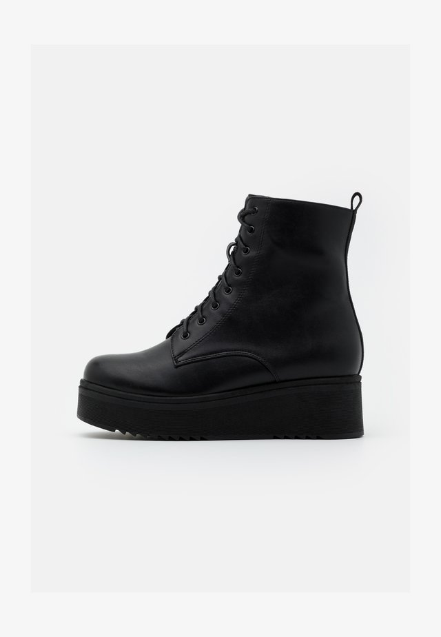 VEGAN TETSU - Bottines à plateau - black