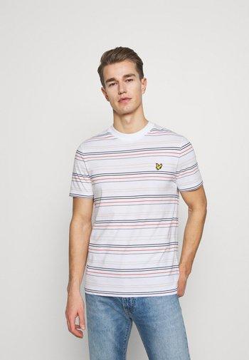 MULTI STRIPE - T-shirt med print - white