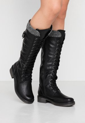 Lace-up boots - black antic