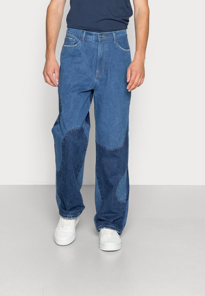 Jaded London - BLUE YIN AND YANG CUT AND SEW - Jeans relaxed fit - blue