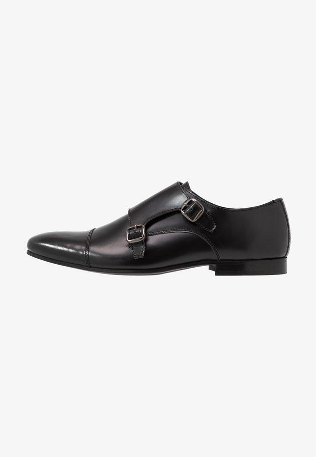 HENDRIX MONK - Smart slip-ons - smooth black