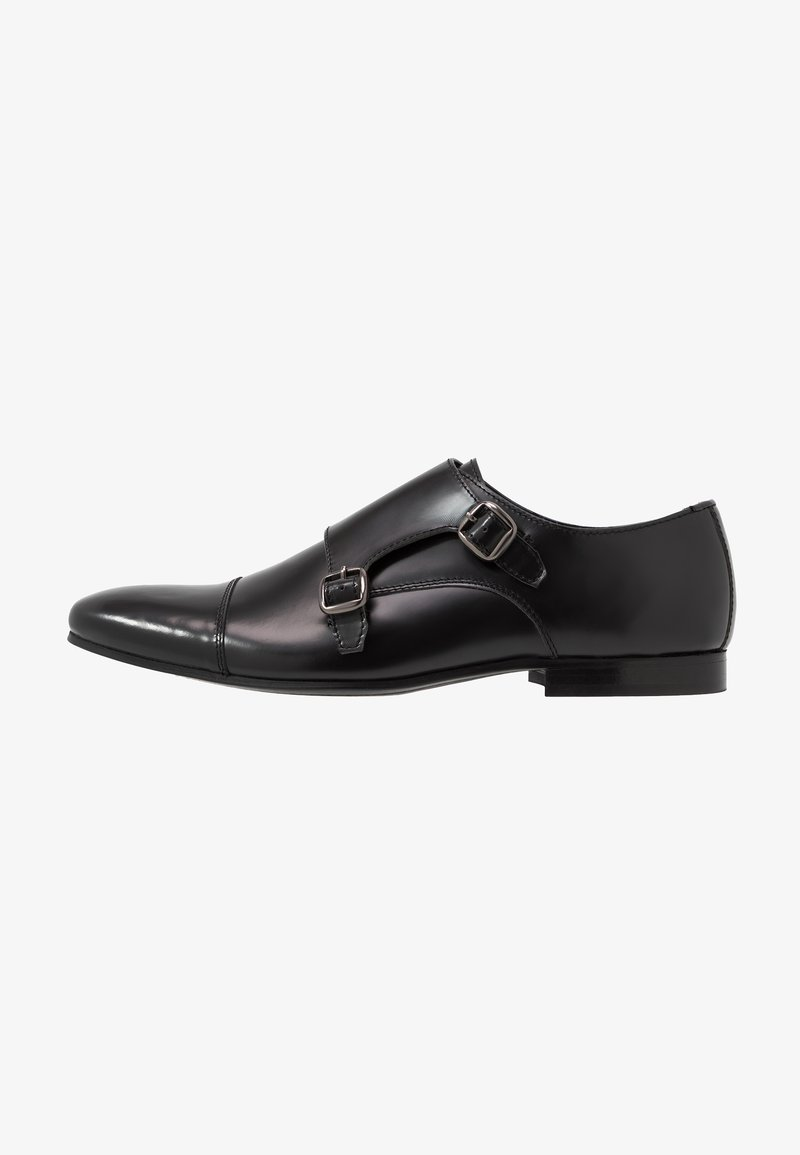Walk London - HENDRIX MONK - Mocassini eleganti - smooth black