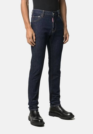 Jeans straight leg - dark blue denim