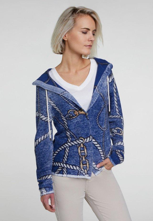 MIT MARITIM-DRUCK - Cardigan - blue