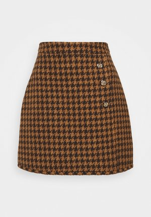 CARMELIA - Mini skirt - marron