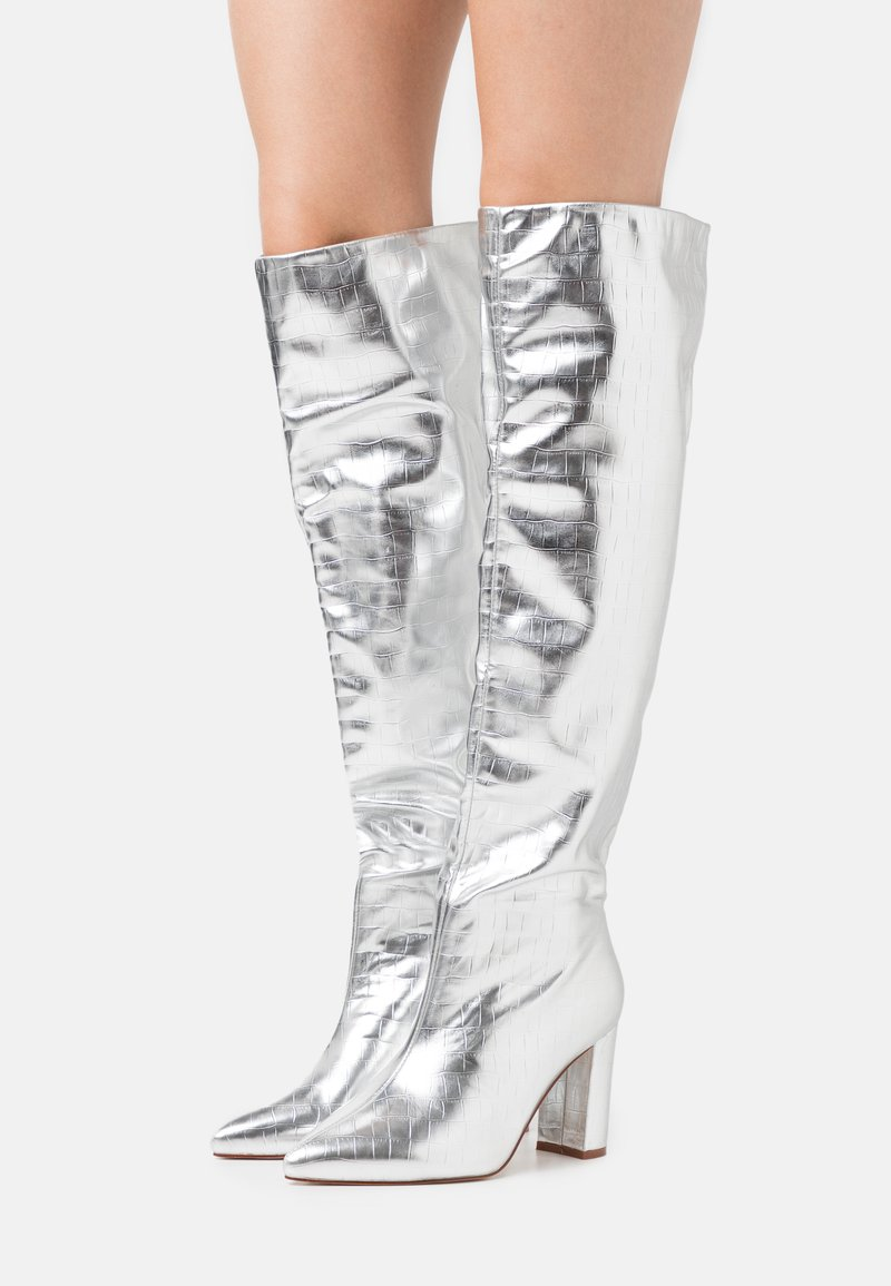 RAID Wide Fit - WIDE FIT SIMMER - Over-the-knee boots - silver
