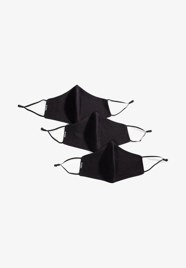 3 PACK - Stoffen mondkapje - black