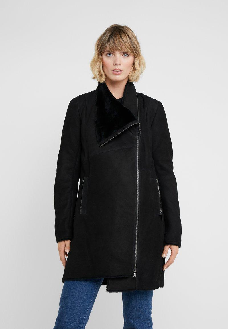 VSP - CLASSIC ZIPPER - Classic coat - merino black