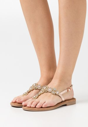 T-bar sandals - copper glam