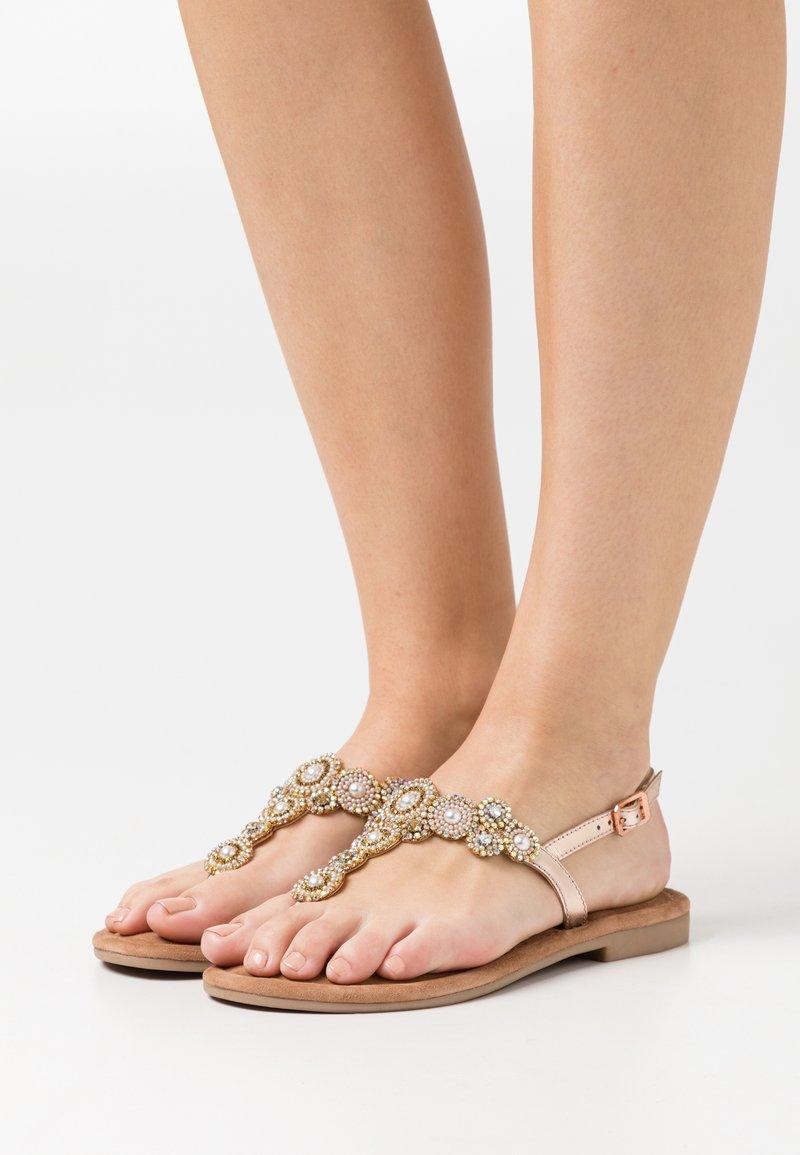Tamaris - T-bar sandals - copper glam