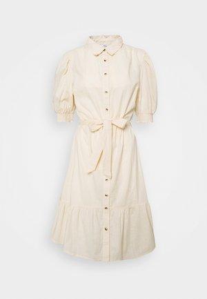 PUFF SLEEVE SHIRT DRESS - Skjortekjole - stone